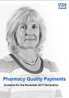 Front cover of the Pharmacy Quality Payments Guidance for the November 2017 Declaration