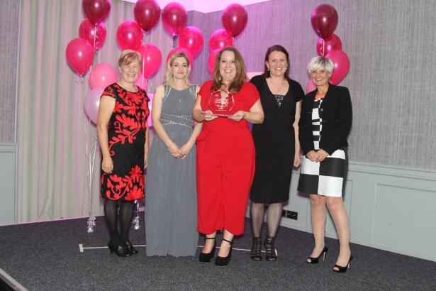 Sue Davis CBE, Laura Brown, Clare Barnes, Jenny Love, and Charlotte Bailey.