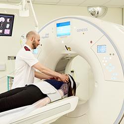 Patient having scan