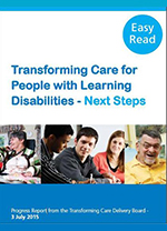 Front cover of the transforming care report