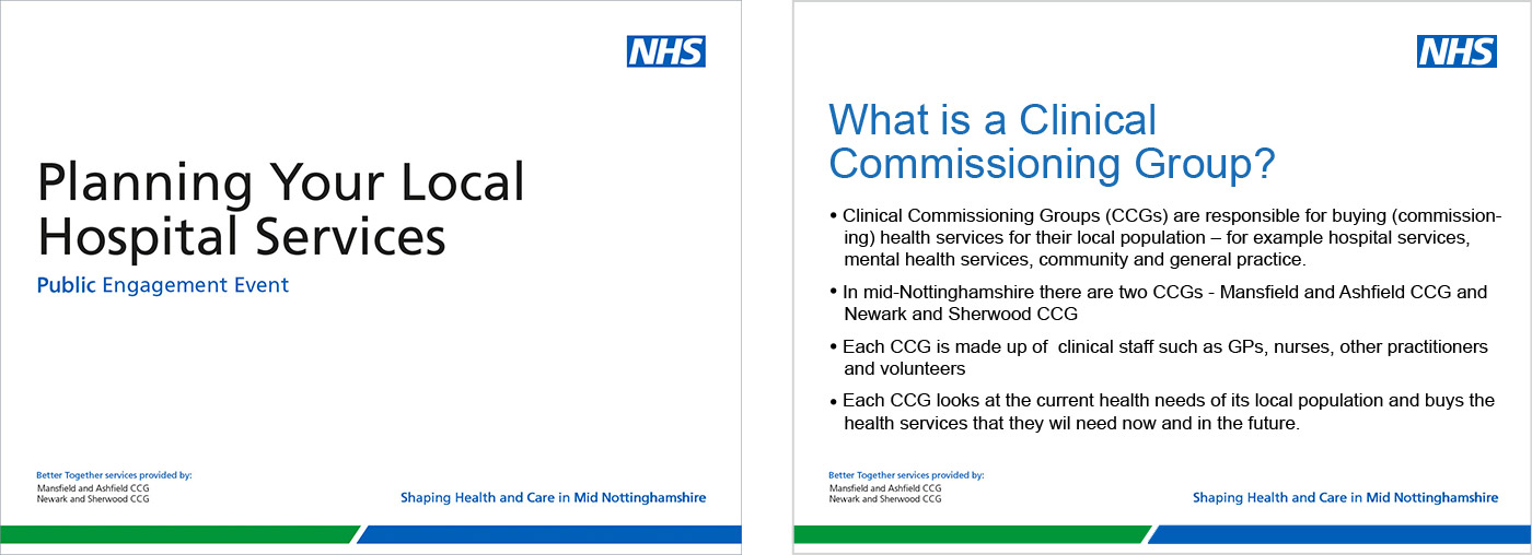 NHS Identity Guidelines | Fonts