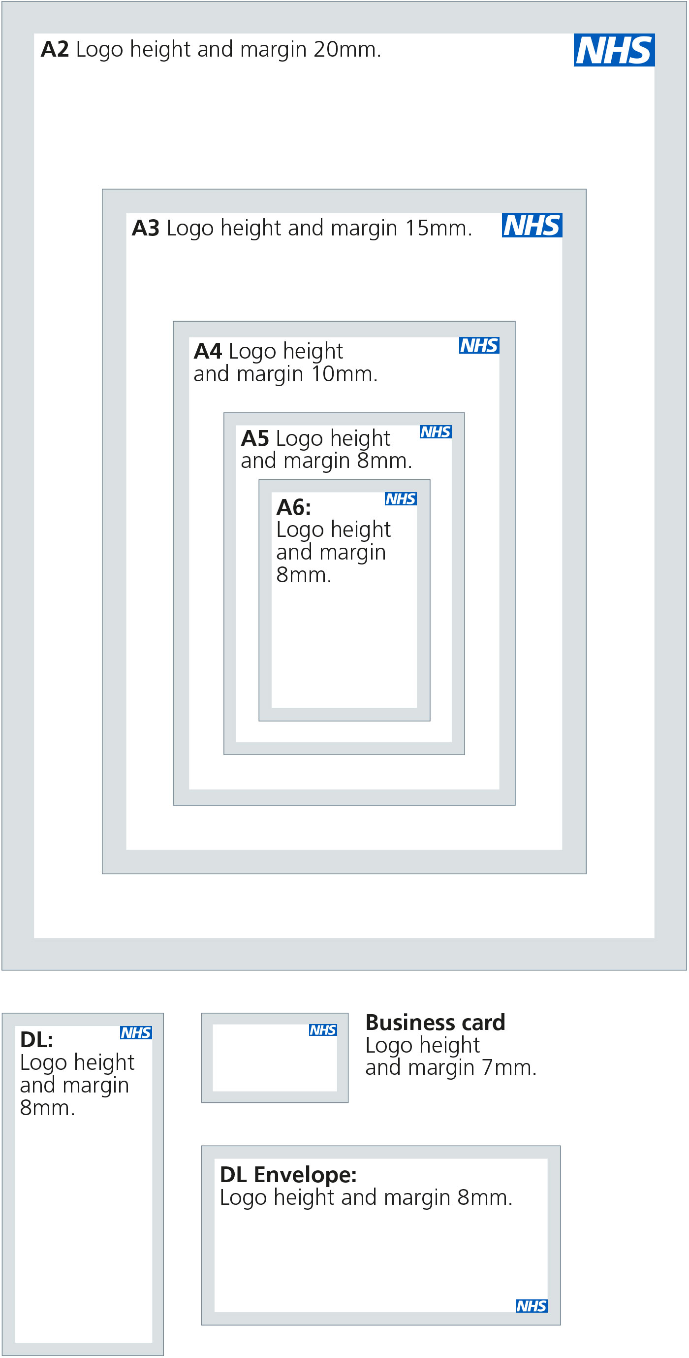 Nhs identity guidelines nhs logo the following summarises nhs logo and margin sizes for standard print formats magicingreecefo Image collections