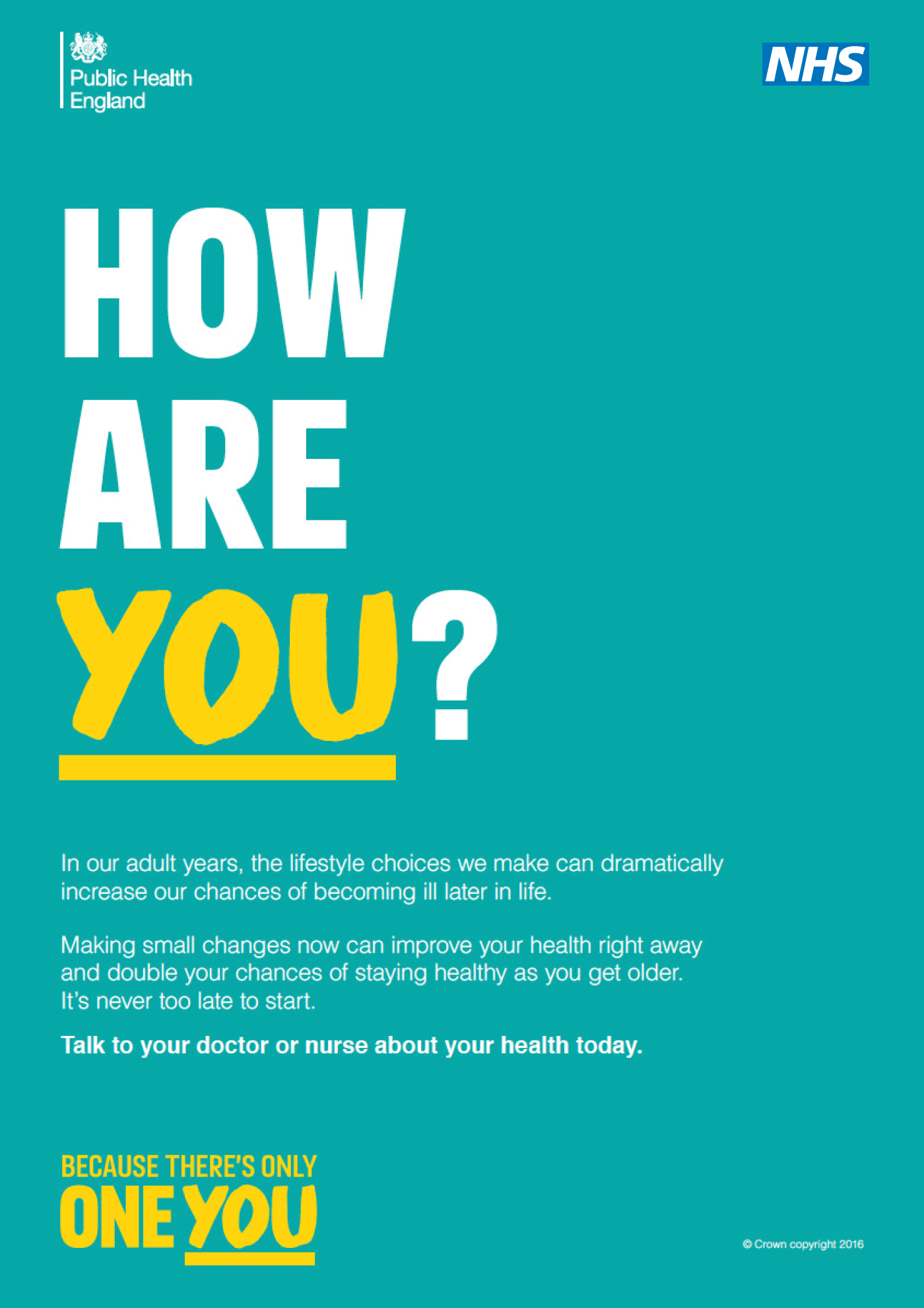 Public Health Partnership Campaign Guidelines Nhs Identity poster Mixed