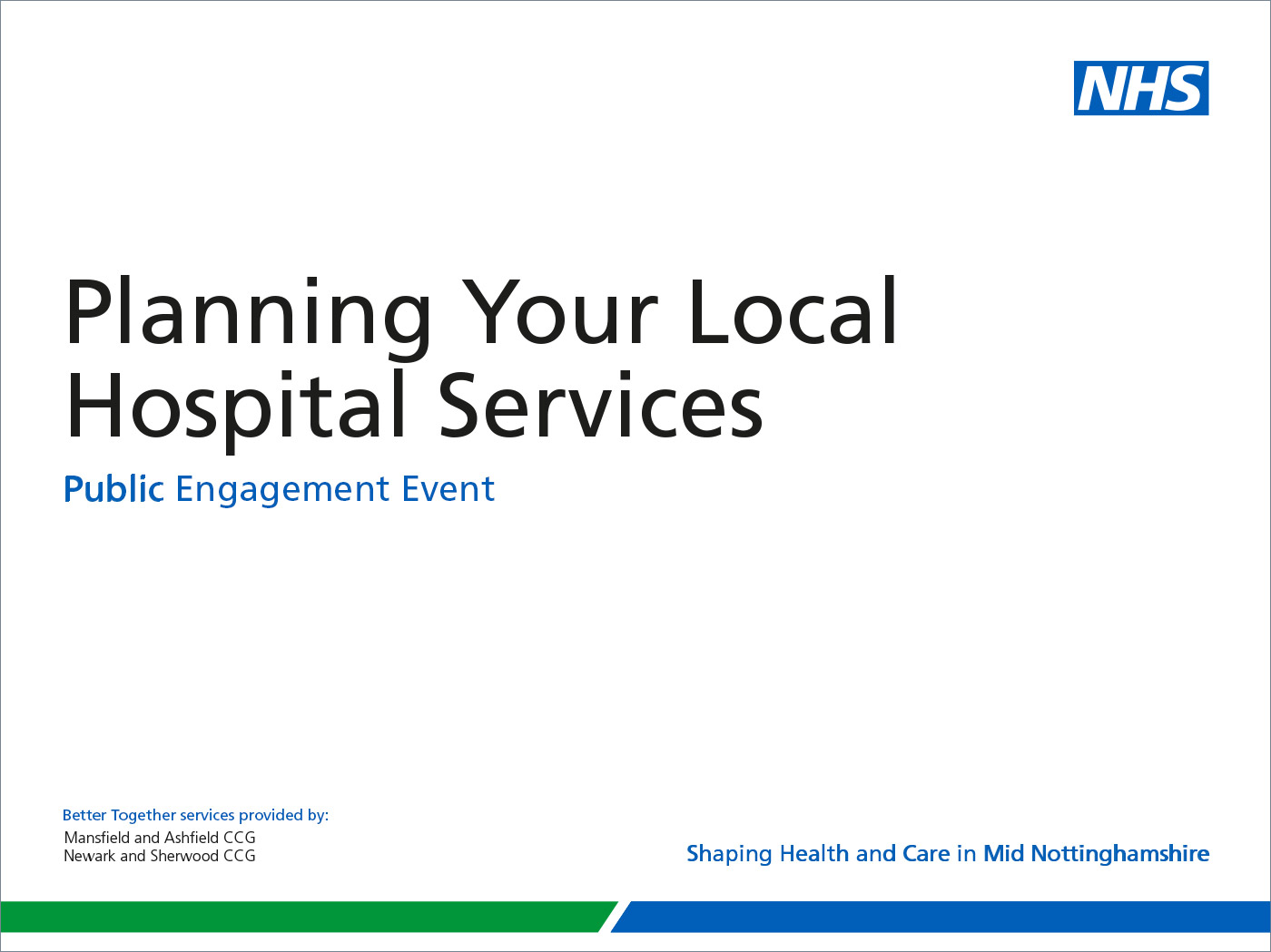 Nhs identity guidelines nhs partnership powerpoint presentation credit nhs mansfield and ashfield clinical commissioning group and nhs newark and sherwood clinical commissioning group toneelgroepblik Images