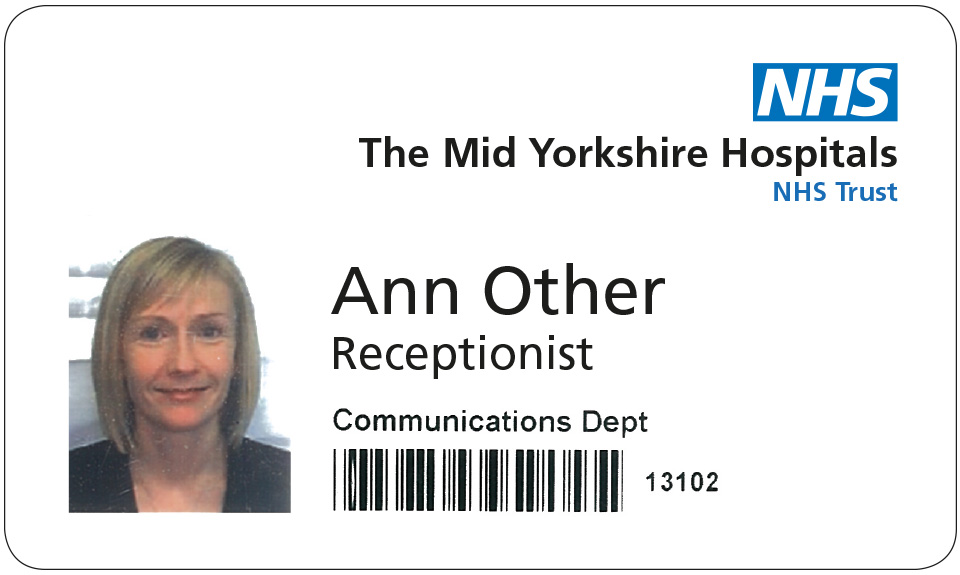 NHS Identity Guidelines | NHS staff identification badge