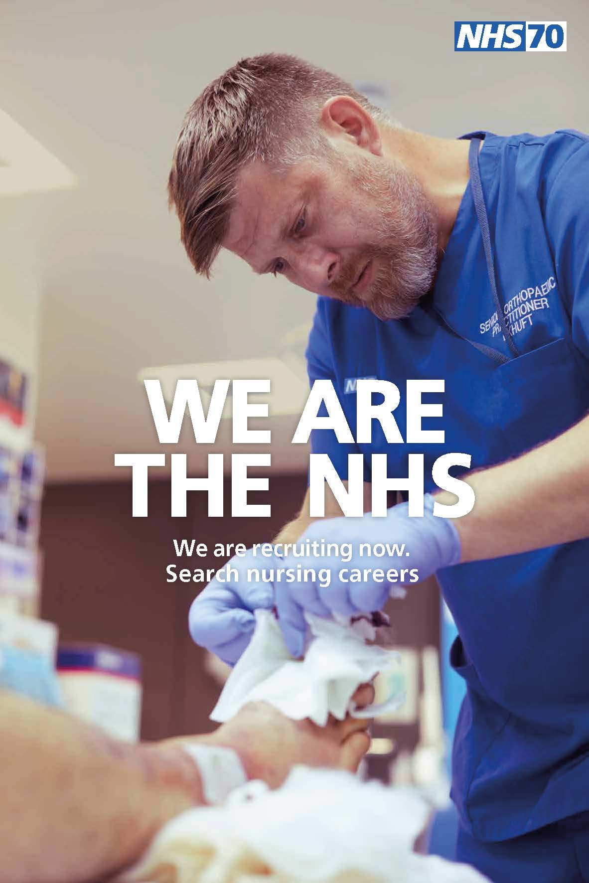 Bespoke lock up campaign example - NHS70