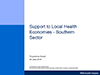 Front cover of the Support to Local Health Economies Report