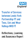 Front cover of the Transfer of Services - Reflections, Learning and Assurance Report