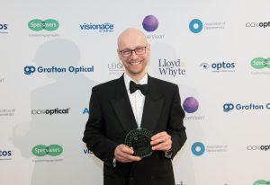 Steve Clarke with his AOP award