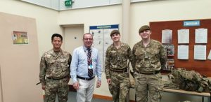 Photo of Martin Diver with reservist colleagues