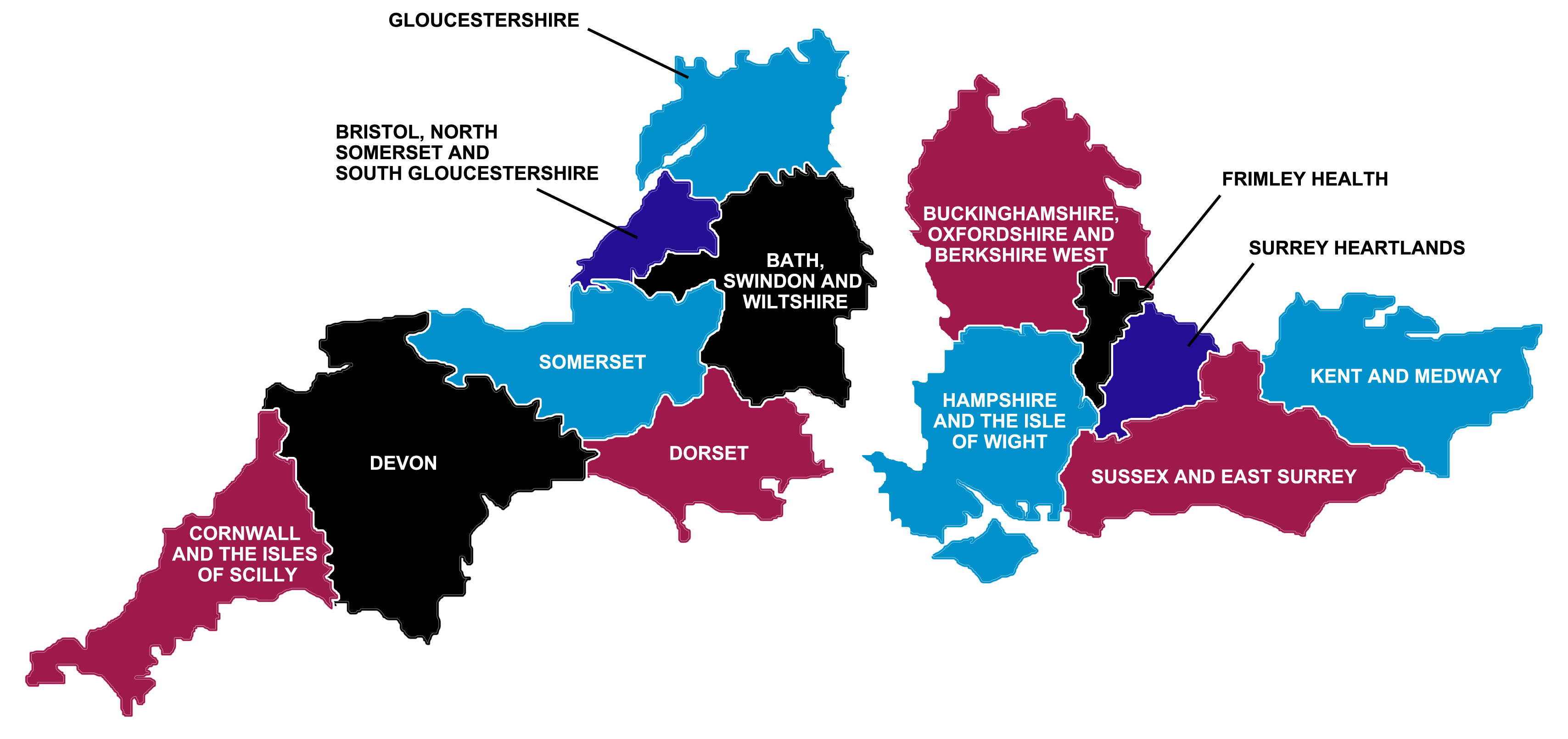 South Devon England Map.Nhs England South West Sustainability And Transformation Plans Stps