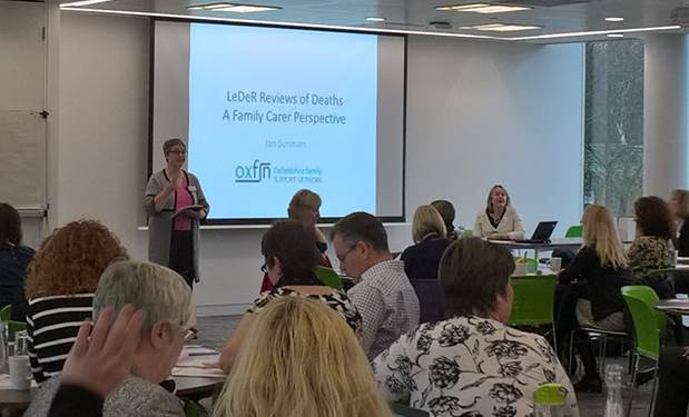 Jan Sunman from Oxfordshire Family Support Network