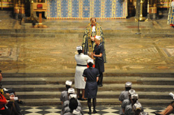 Nurses walking up the aisle at Westminster Abbey