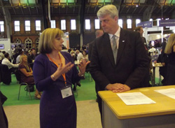 The Secretary of State for Health, Andrew Lansley with Jane Cummings, Chief Nursing Officer on our stand