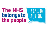 NHS England Call to Action image which reads 'The NHS belongs to the people: A call to action'