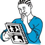 Image of someone reading a book