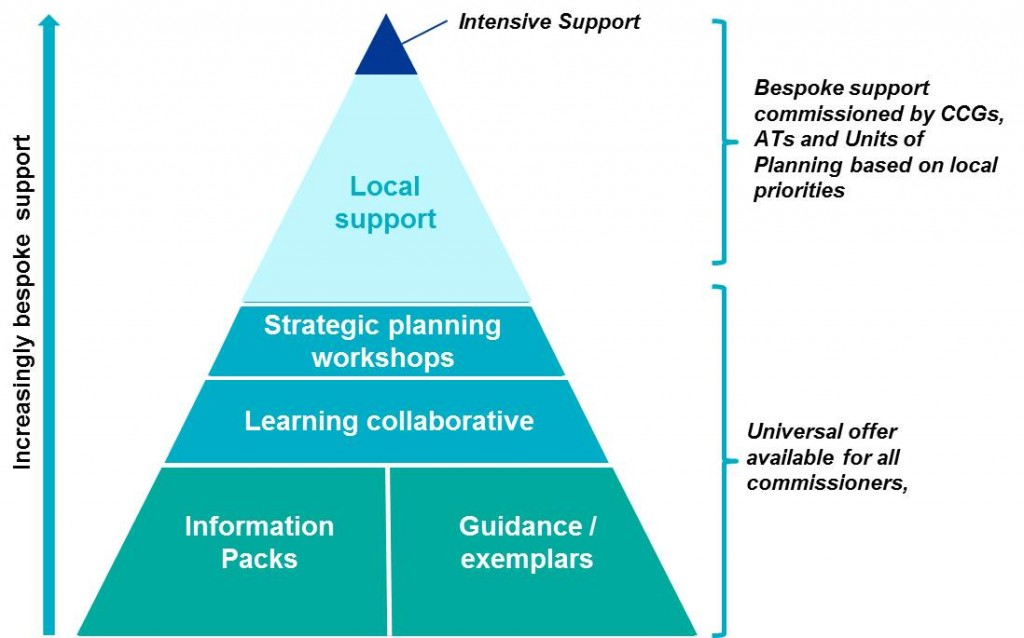 Diagram that shows the support package which will be made available to support the planning process