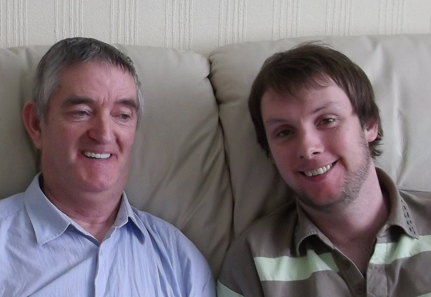 Image of Colin Royle and his dad, Malcom, who suffers from Dementia