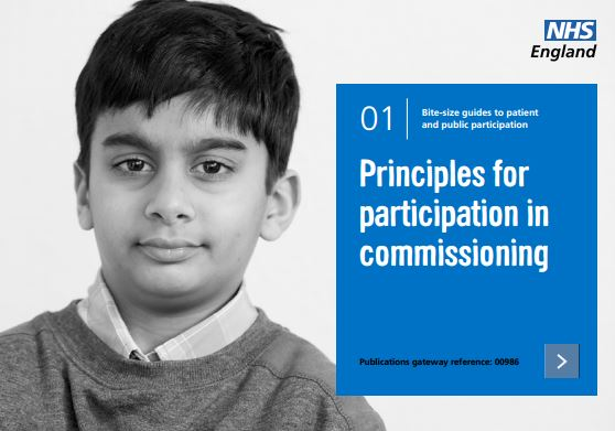 Bite-size guide 1: Principles for participation in commissioning