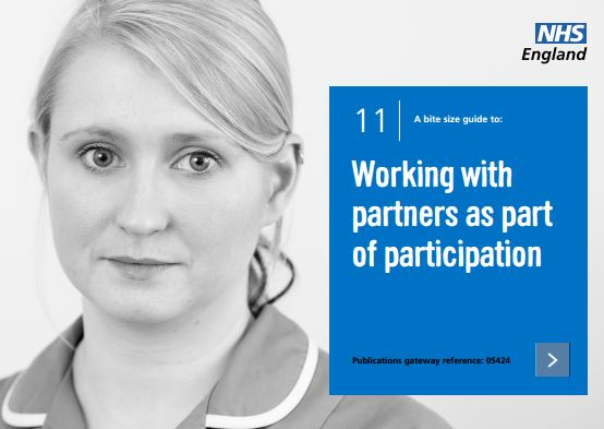 Bite-size guide 11: Working with partners as part of participation