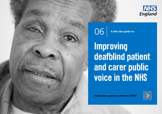 Bite-size guide 6: Improving deafblind patient and carer public voice in the NHS