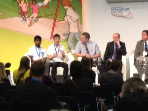 Tom Yems and Vikram Patel explain the priorities for action at the launch of the Youth Forum at EXPO 2014