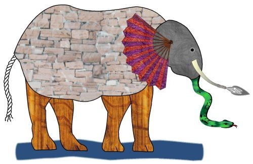 Image of the parable of Blind Men and the Elephant