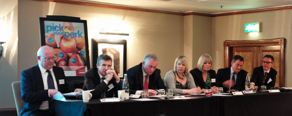 Image of the panel from the Call to action event, London