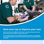 Image of the Ambulance services' FFT promotional poster