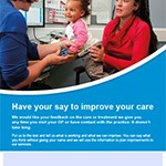 Image of the GP practices' FFT promotional poster