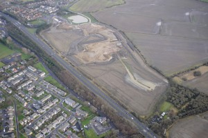 Ariel view taken in January 2013 of the construction of Cramlington hospital