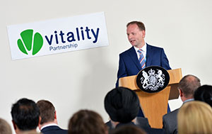 Simon Stevens speaking