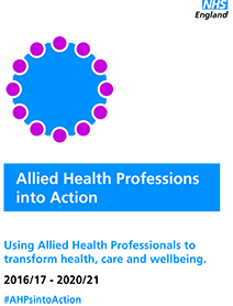 The front cover of AHPs into Action