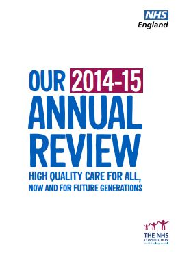 NHS England Annual Review 2014/15
