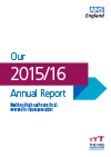 Front cover of 'Our 2014-16 Annual Report'