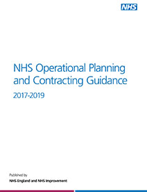 Front cover of the NHS Operational Planning and Contracting Guidance 2017-2019