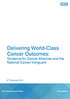 The front cover of Delivering World-Class Cancer Outcomes guidance