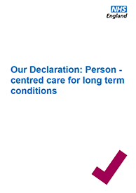Front cover of the long term conditions declaration
