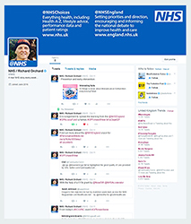 A screenshot of the @NHS Twitter feed