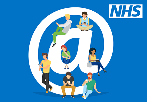 The @NHS logo