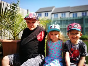 Josh and his brother and sister
