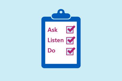 Ask, Listen, Do
