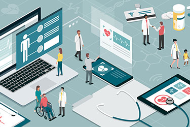 Healthcare technology illustration
