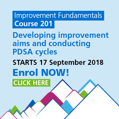 Improvement fundamentals, Developing Improvement Aims and Conducting PDSA Cycles, starts on 17 September 2018, enroll now