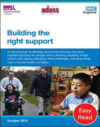 """A booklet with the title """"Building the Right Support"""""""