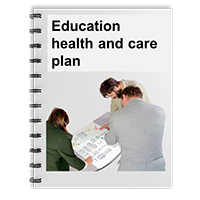 "A booklet entitled ""Education health and care plan"""