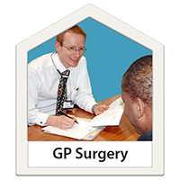 A man talking to a GP