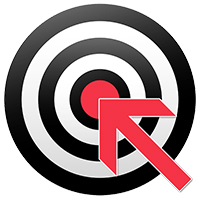 Target with an arrow pointing to red bullseye