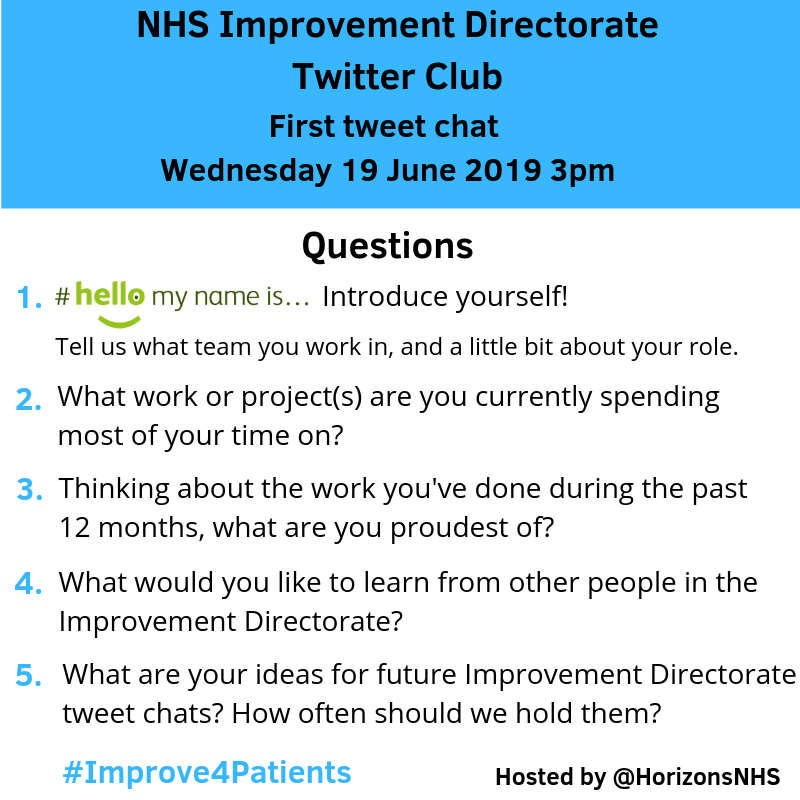 Tweetchat questions for 19 June 2019