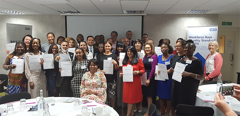 Group photo of the new workforce race equality standard experts